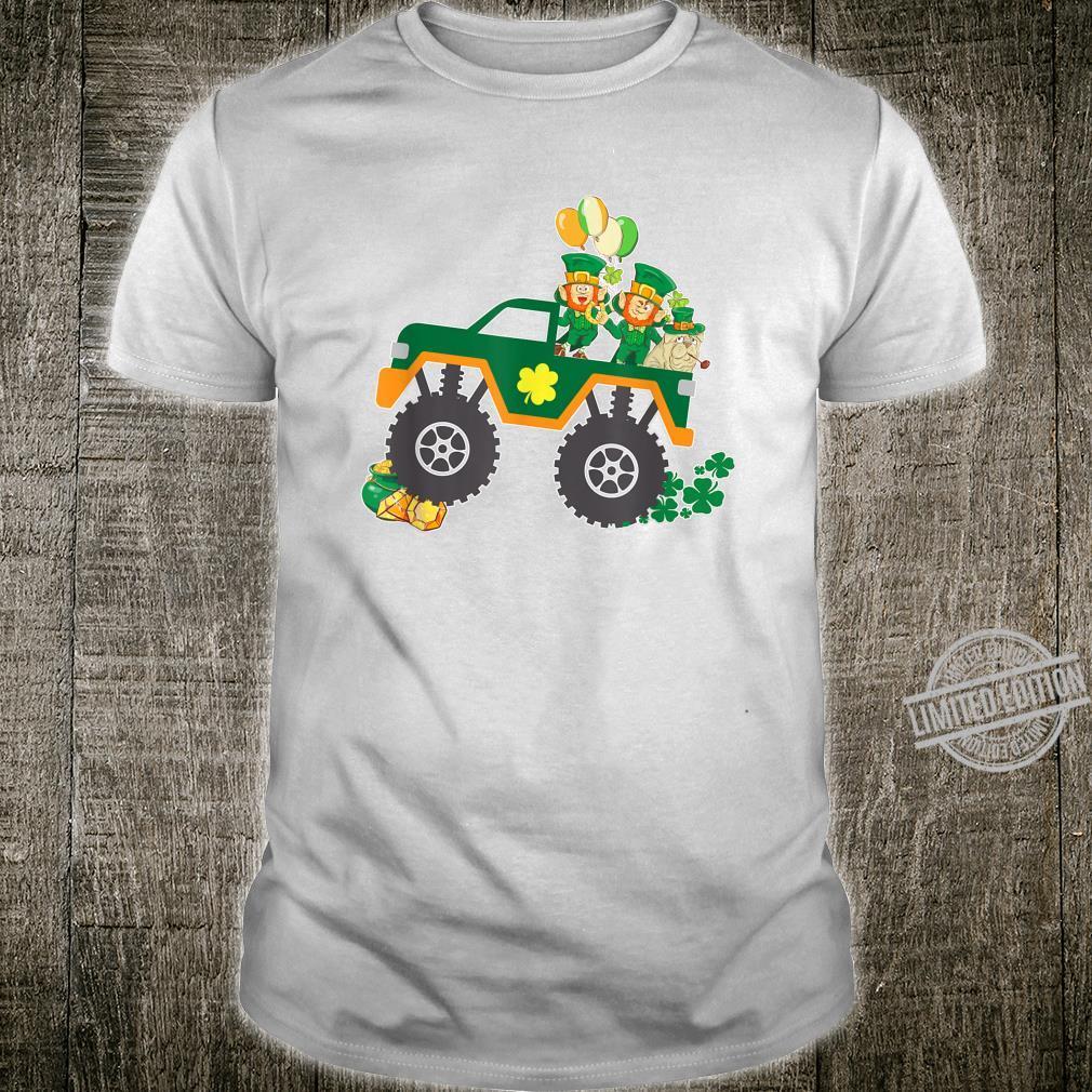 St Patricks Day Shirt Toddler Boys Girls Monster Truck Shirt