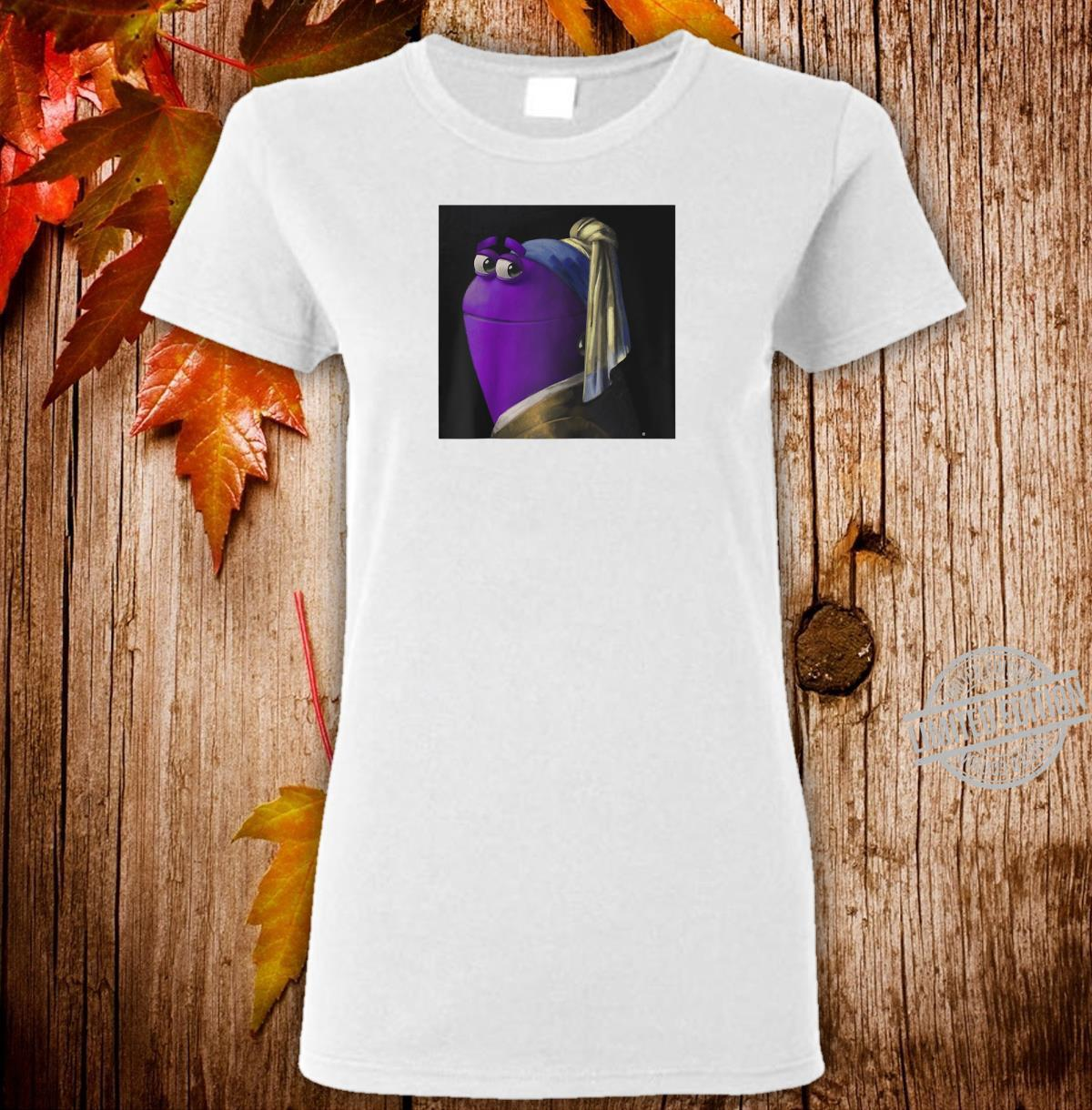 StoryBots Bo With A Pearl Earring Painting Shirt ladies tee