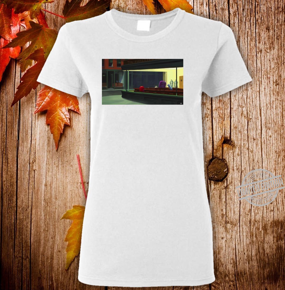 StoryBots Group Shot Nighthawks Painting Langarmshirt Shirt ladies tee