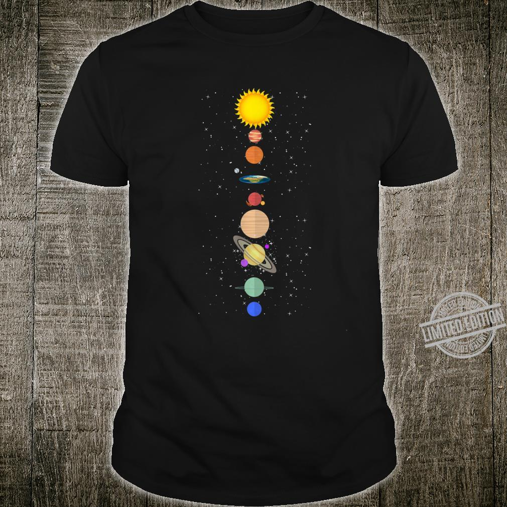 Tee Flat Earth Planet Solar System Space Galaxy Cosmos Shirt