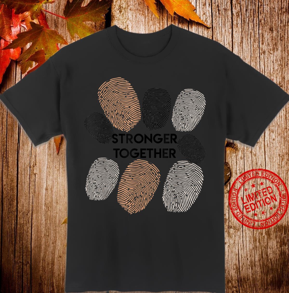 Together Stronger Melanin BLM Equality Black Pride Shirt