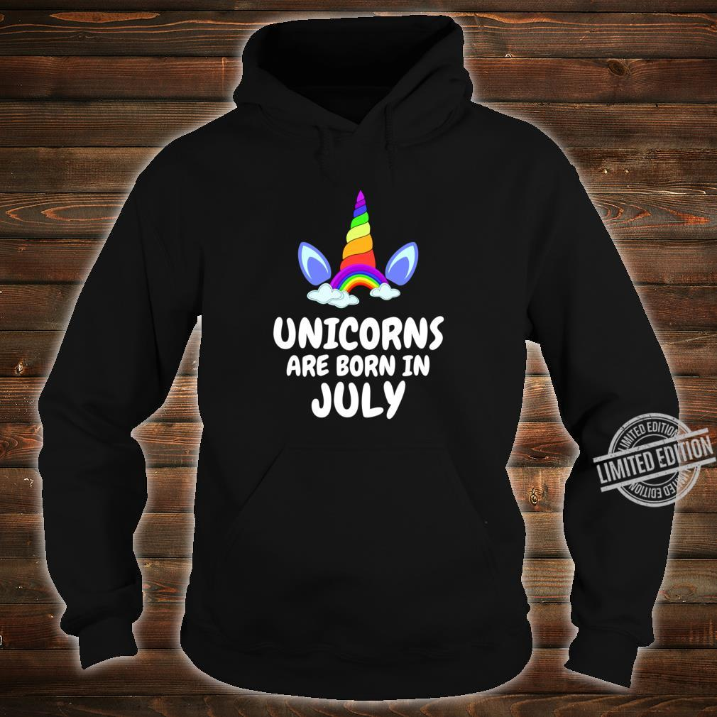 UNICORNS ARE BORN IN JULY Birthday Girl Lightweight Shirt hoodie