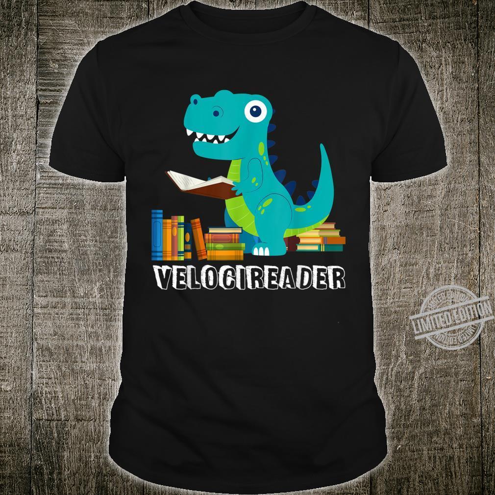 Velocireader Velociraptor Dinosaur Reading Book Shirt