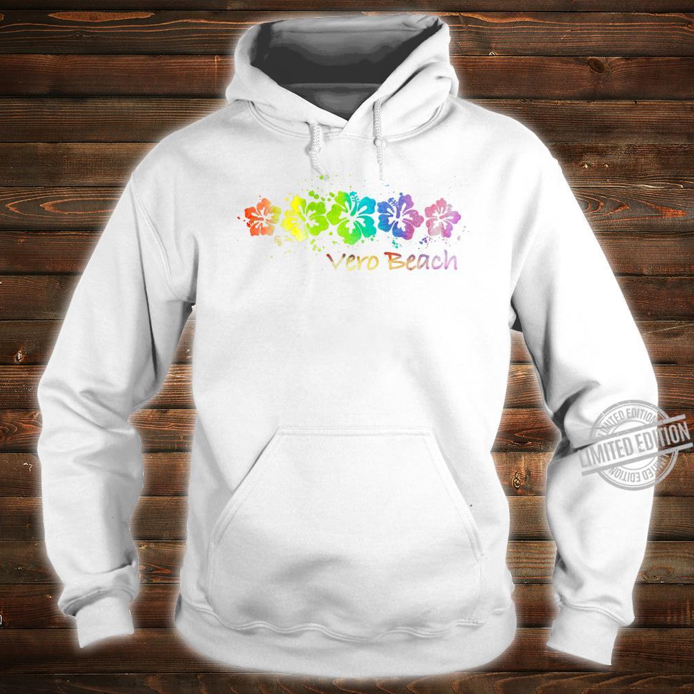 Vero Beach, FL Watercolor Beach & Surf Shirt hoodie