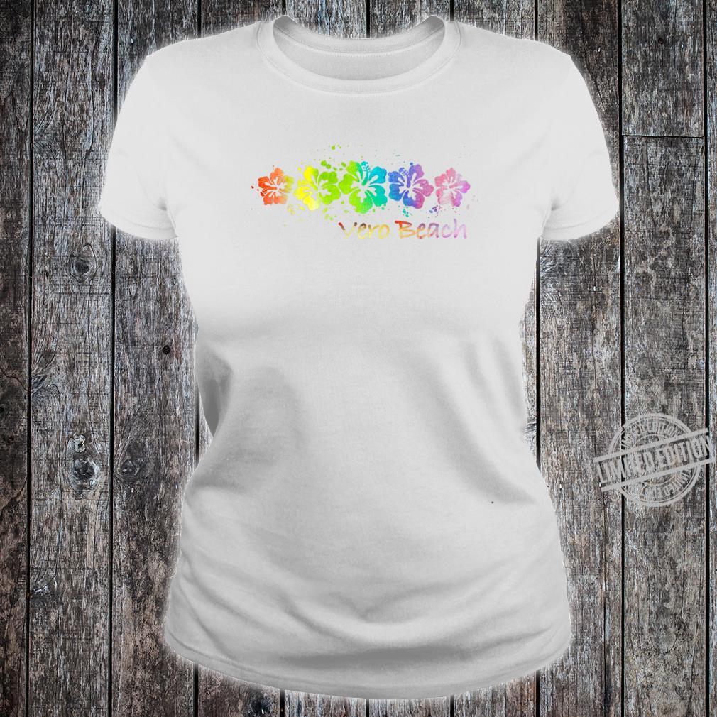 Vero Beach, FL Watercolor Beach & Surf Shirt ladies tee