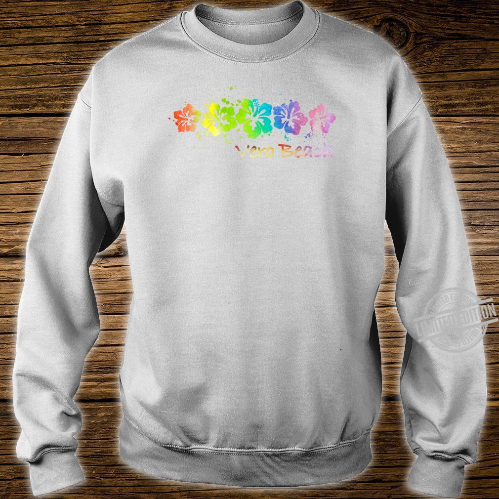 Vero Beach, FL Watercolor Beach & Surf Shirt sweater