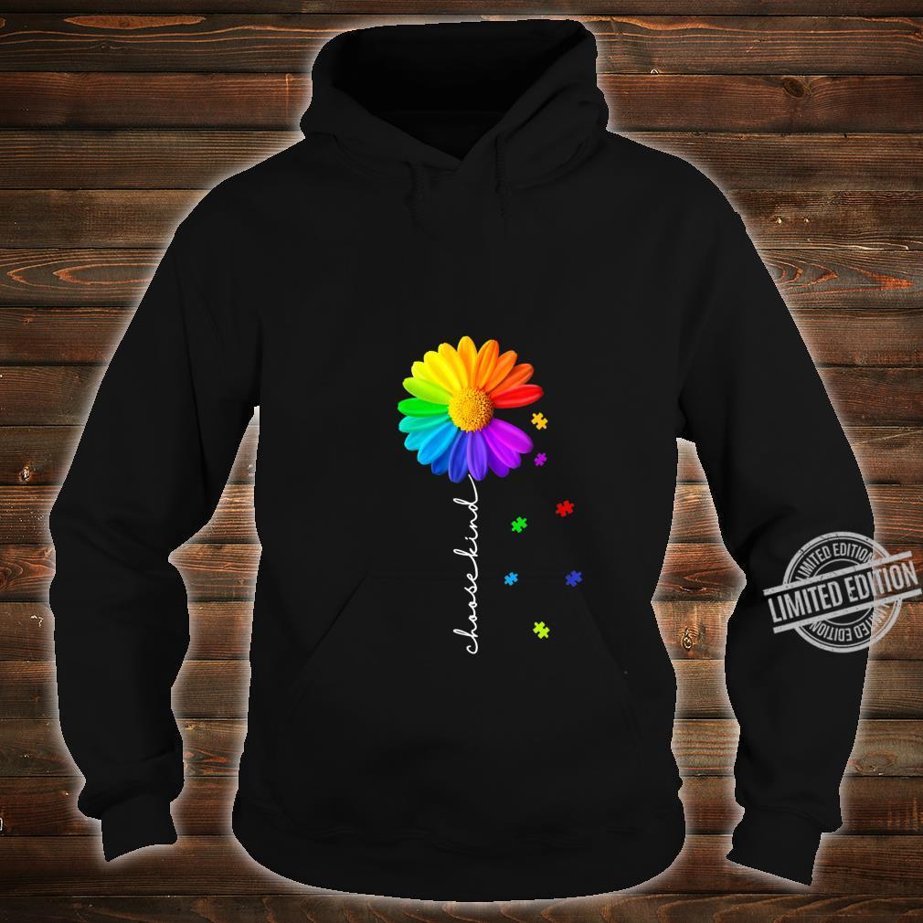 Womens Choose Kind Autism Awareness Daisy Flower Shirt hoodie