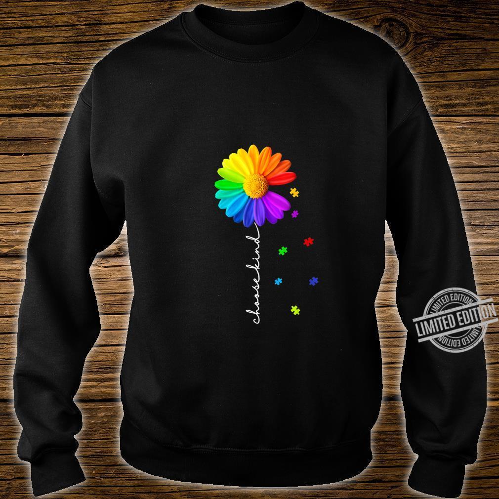 Womens Choose Kind Autism Awareness Daisy Flower Shirt sweater