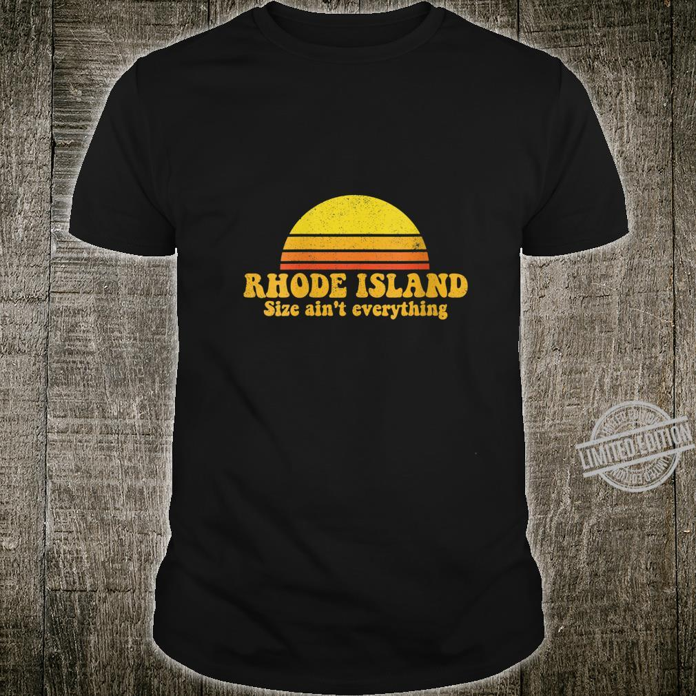 Womens State of Rhode Island Vintage Slogan Retro USA Shirt