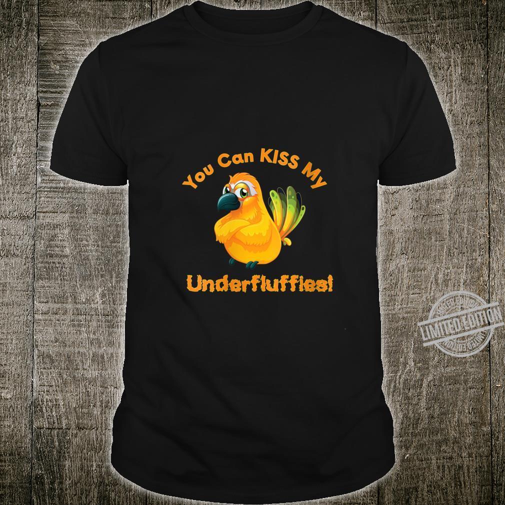 Womens Sun Conure Parrot Kiss Underfluffies Shirt